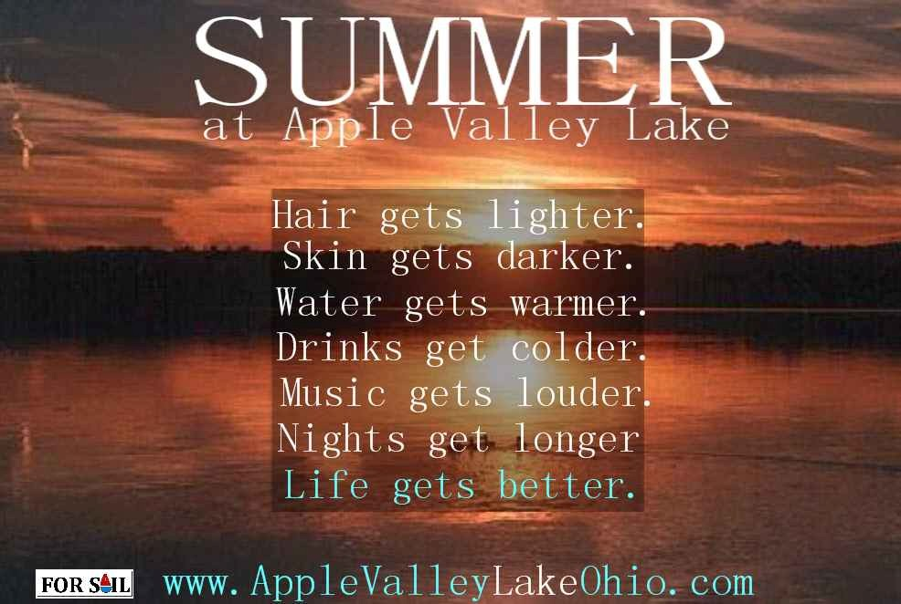 Weather at Apple Valley Lake, Ohio - Summer