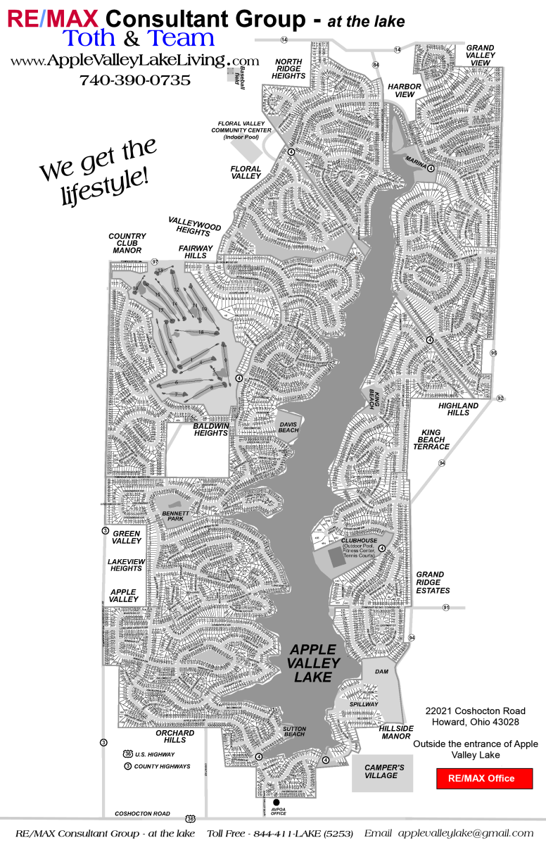 Apple Valley Lake Map
